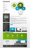 Websitebeståndsdelar/malldesign för din affärsplats Royaltyfri Fotografi