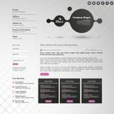 Websitebeståndsdelar/malldesign för din affärsplats Royaltyfria Bilder