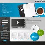 Websitebeståndsdelar/malldesign för din affärsplats Arkivfoto