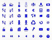 Websitebeståndsdelar och symboler Royaltyfria Bilder