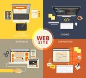 Websitebyggnad royaltyfri illustrationer