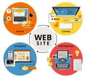 Websitebyggnad vektor illustrationer