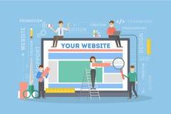 Websitebyggnadsillustration royaltyfri illustrationer