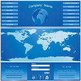 Websitedesign stock illustrationer