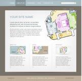Websitedesignmall för byggfirma vektor illustrationer