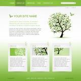 Websitedesignmall med det gröna trädet vektor illustrationer
