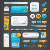 Websiteelementen Royalty-vrije Stock Afbeeldingen