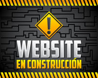 Websiteen-construccion - websiten under konstruktionsspanjor smsar Royaltyfria Bilder