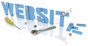 Websiteentwicklung im Bau lizenzfreie abbildung
