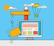 Websiteerbauer-Vektorillustration Stockbild