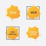 Websitefahnen, Verkauf, neues, Sonderangebot Stockfotos