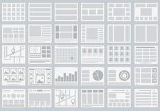 Websiteflödesdiagram, orienteringar av flikar, infographics, översikter stock illustrationer