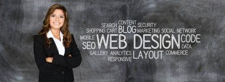 Websiteformgivare arkivbild