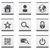 Websiteikonen eingestellt Lizenzfreie Stockfotografie