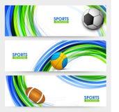 Websitekopbal of Banner voor Sportenconcept dat wordt geplaatst Stock Afbeelding