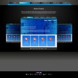 Websitemall för formgivare royaltyfri illustrationer