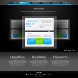 Websitemall för formgivare vektor illustrationer