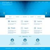 Websitemall med abstrakt titelraddesign Arkivbild