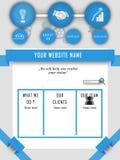 WEBSITEMALLEN FÖR STARTAR UPP SERVICE Arkivbild