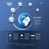 Websitemalplaatje royalty-vrije illustratie