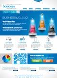 Websitemalplaatje voor collectieve bedrijfs en wolkendoeleinden Stock Afbeeldingen