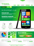 Websitemalplaatje voor collectieve bedrijfs en wolkendoeleinden. Royalty-vrije Stock Foto