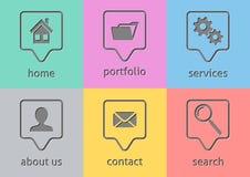 Websitemenüikonen Stockbilder