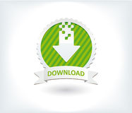 Websitenedladdningsymbolen och knäppas Arkivbild