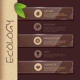Websiteontwerp. Ecologieachtergrond Royalty-vrije Stock Foto