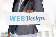 Websiteontwerper stock foto