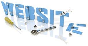 Websiteontwikkeling in aanbouw royalty-vrije illustratie