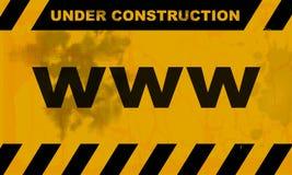 Websites in aanbouw Stock Afbeeldingen