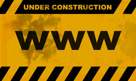 Websites under construction. A sign for websites under construction Stock Images