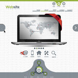Websiteschablone für Geschäftsdarstellung Lizenzfreies Stockfoto