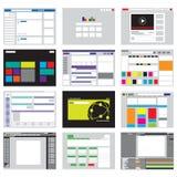 Websiteschablone Ikone und Hintergrund Lizenzfreies Stockbild