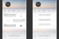 Websiteschablone mit modernem Logo und austauschbare Steigung greifen ineinander Lizenzfreies Stockfoto