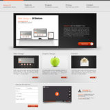 Websiteschnittstellen-Schablonendesign Vektor Lizenzfreies Stockbild