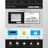 Websiteschnittstellen-Schablonendesign Vektor Lizenzfreie Stockfotografie