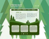Websiteseiten-Designschablone Stockfotos