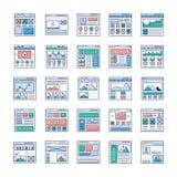 WebsiteSitemaps packar plana vektorer royaltyfri illustrationer