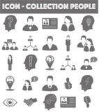Websitesymbolssamling (folk/affären) Arkivbilder