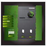 Websitetemplete Vecotor EPS10 Arkivbild