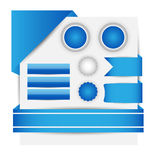Websitetemplete Vecotor EPS10 Arkivbilder