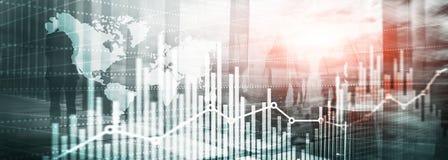 Websitetitelrad abstrakt bakgrundsuniversal silhouettes för affärsfolk Ekonomisk tillväxtgrafdiagram double stock illustrationer