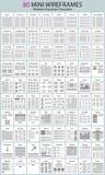 websiteworkflowdiagram och wireframes Arkivbild