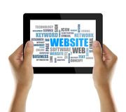 Websitewort oder -Tag-Cloud Stockbilder
