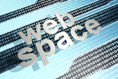 Webspace Immagine Stock