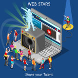Webstars 01 personnes isométriques illustration de vecteur