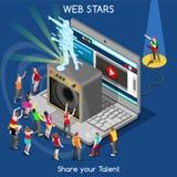 Webstars 01 povos isométricos Foto de Stock Royalty Free
