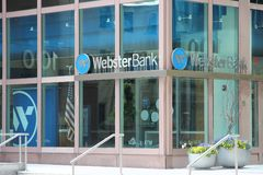 Webster Bank, Providence. PROVIDENCE, USA - JUNE 8, 2013: Webster Bank branch in Providence. As of 2015 it holds USD 23 billion in assets Royalty Free Stock Image